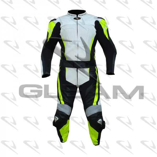 Two Piece Motorbike Leather Suit